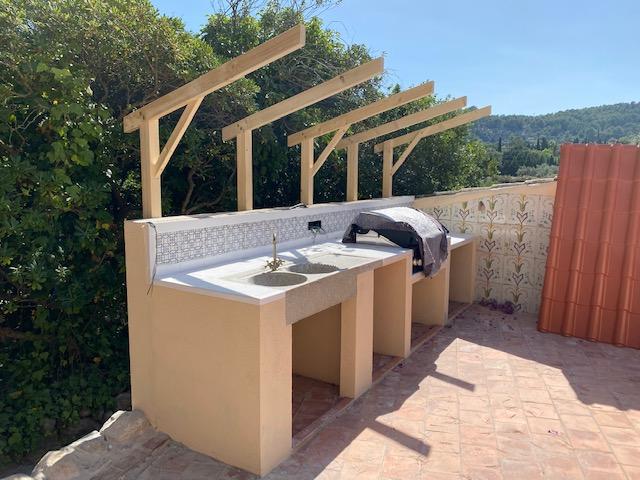 Bau Außenküche Mallorca